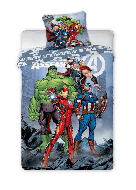 FARO Povlečení Avengers Assemble  Bavlna, 140/200, 70/90 cm