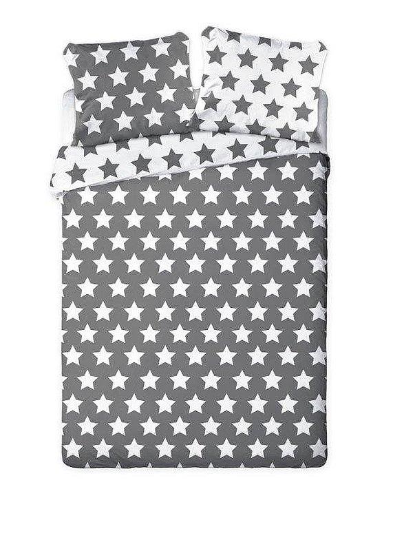 FARO Francouzské povlečení Hvězdy šedé  Bavlna, 220/200, 2x70/80 cm