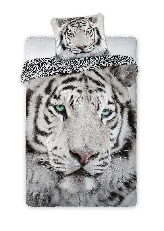 FARO Povlečení Bílý Tygr  Bavlna, 140/200, 70/90 cm