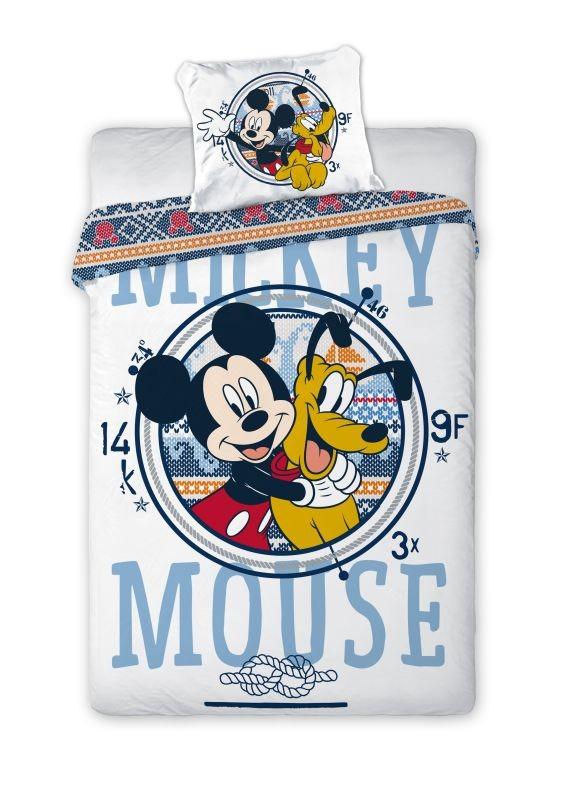 FARO Povlečení do postýlky Mickey a Pluto  Bavlna, 100/135, 40/60 cm