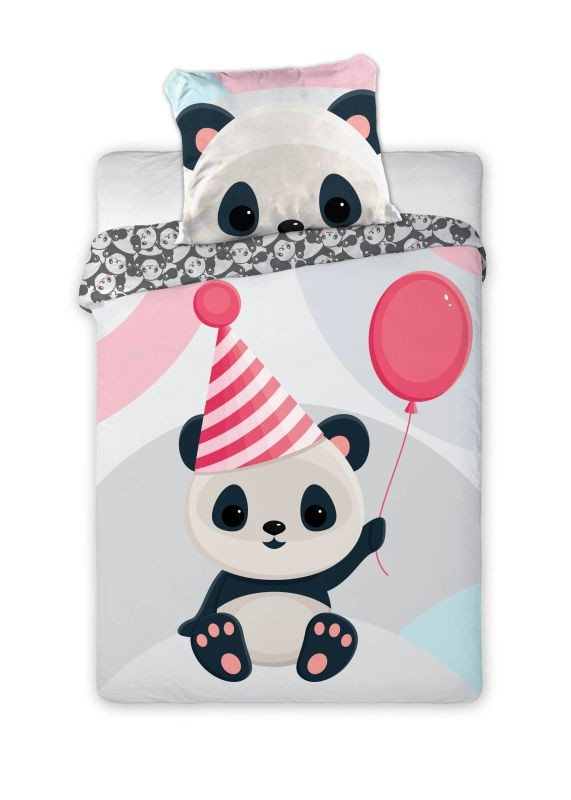 FARO Povlečení do postýlky Panda  Bavlna, 100/135, 40/60 cm