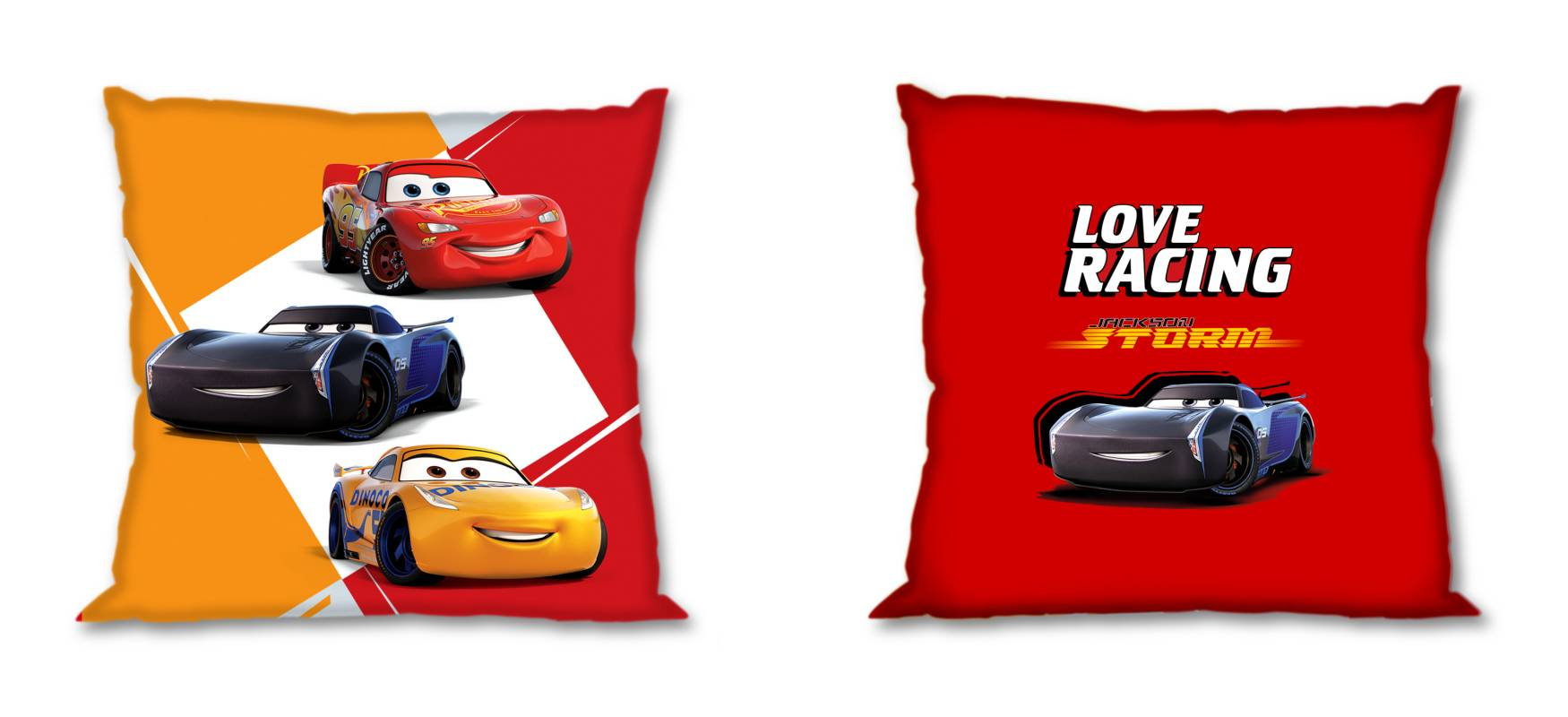 FARO Povlak na polštářek Cars Love Racing  Bavlna, 40/40 cm