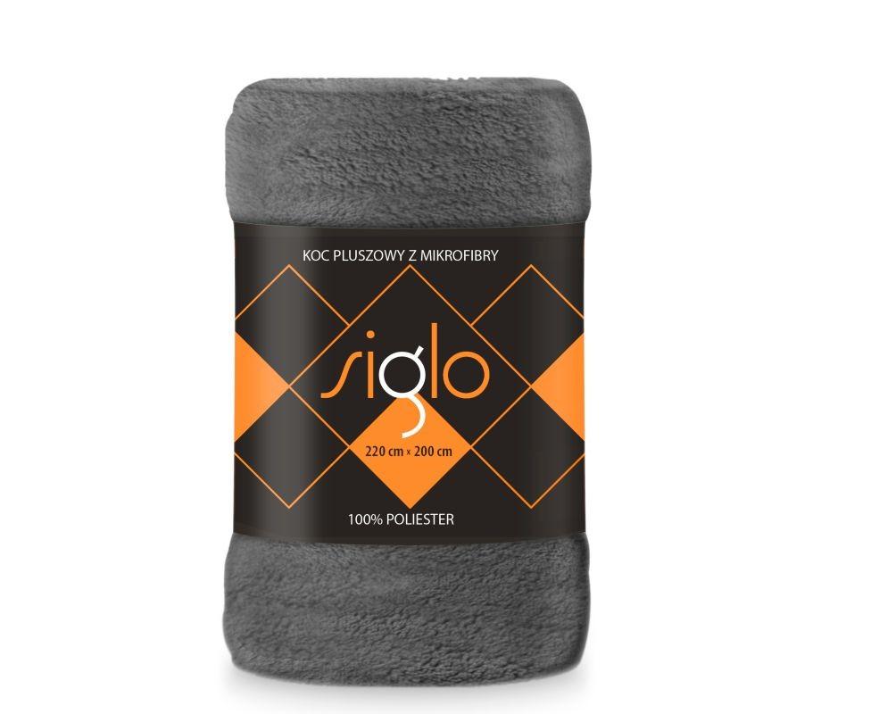 FARO Deka mikroplyš super soft tmavě šedá  Polyester, 220/200 cm