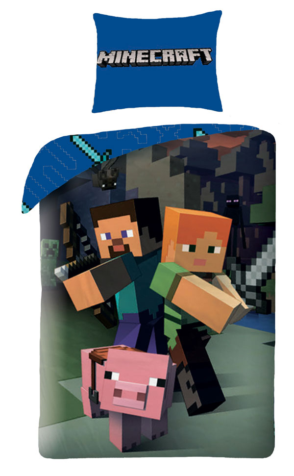 Povlečení Minecraft 140/200, 70/90