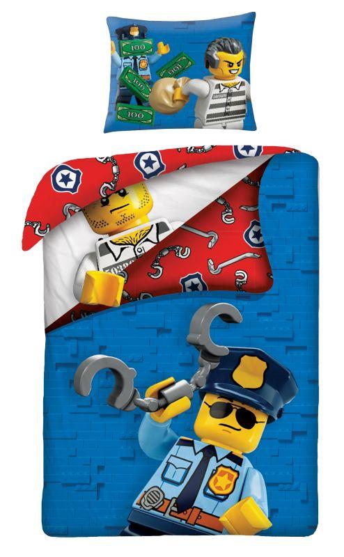 HALANTEX Povlečení Lego blue  Bavlna, 140/200, 70/90 cm