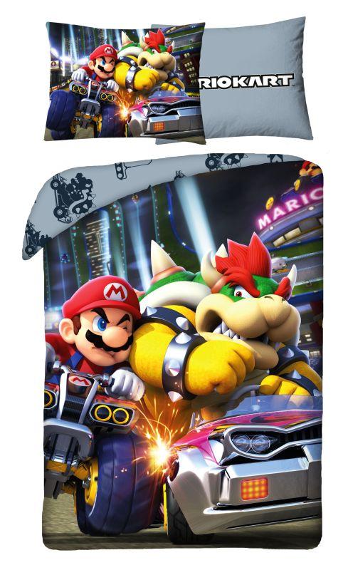 HALANTEX Povlečení Super Mario Bowser  Bavlna, 140/200, 70/90 cm