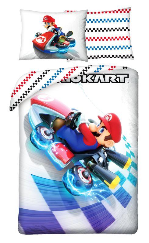 HALANTEX Povlečení Super Mario motokára  Bavlna, 140/200, 70/90 cm