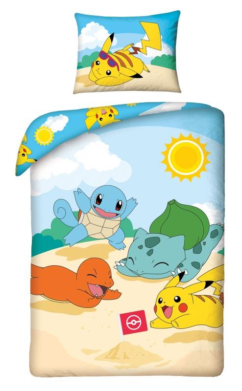 HALANTEX Povlečení Pokémon pláž  Bavlna, 140/200, 70/90 cm
