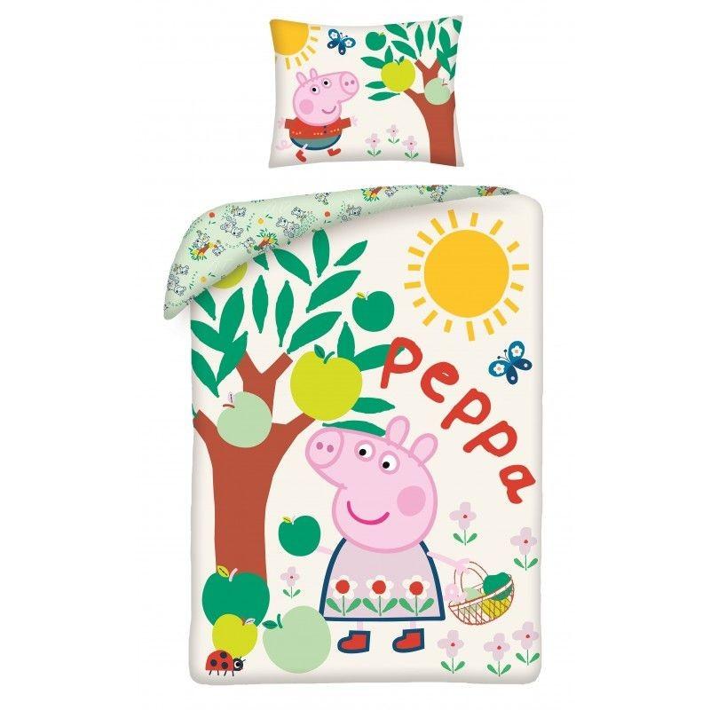 HALANTEX Povlečení ve vaku Peppa Pig jabloň  Bavlna, 140/200, 70/90 cm