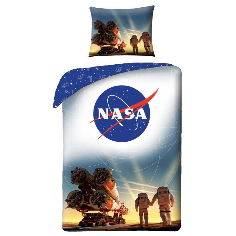 HALANTEX Povlečení NASA raketa  Bavlna, 140/200, 70/90 cm