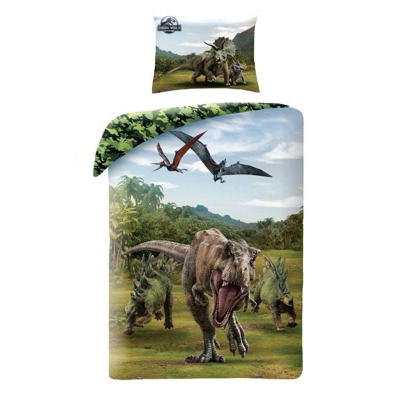 HALANTEX Povlečení Jurský Park T-Rex  Bavlna, 140/200, 70/90 cm