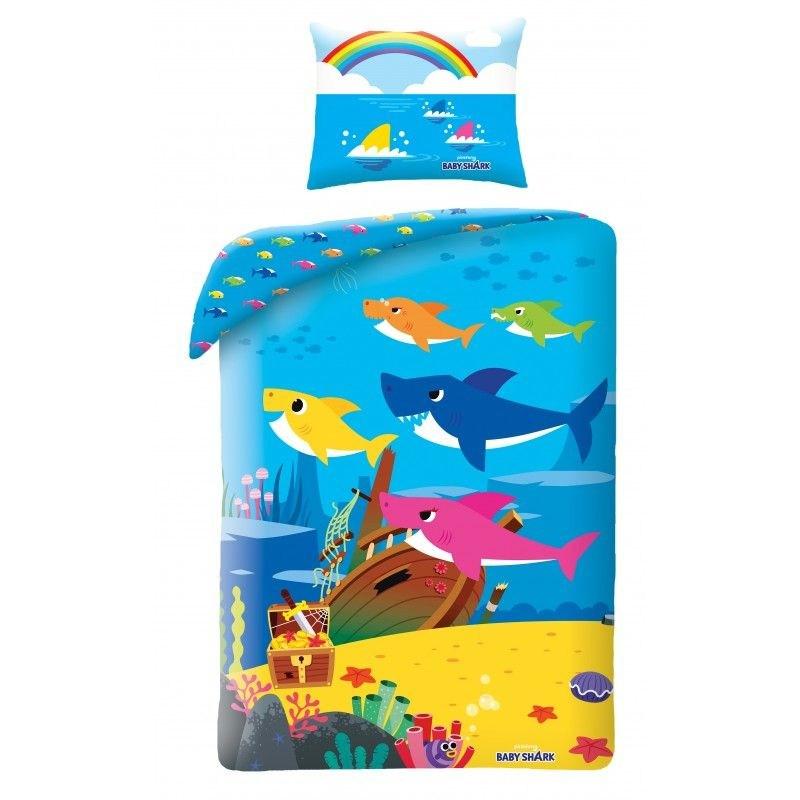 HALANTEX Povlečení Baby Shark Poklad  Bavlna, 140/200, 70/90 cm