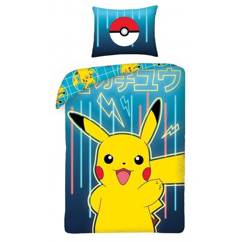 HALANTEX Povlečení Pokémon Pikachu  Bavlna, 140/200, 70/90 cm