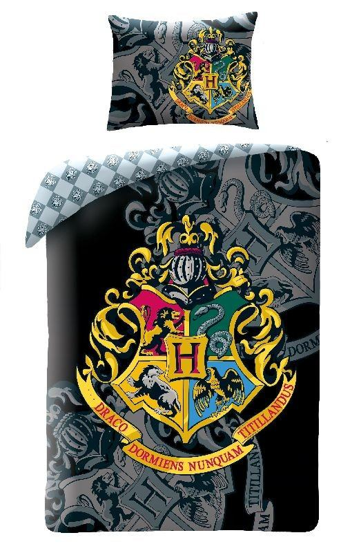 HALANTEX Povlečení Harry Potter black  Bavlna, 140/200, 70/90 cm