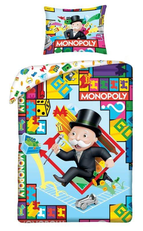 HALANTEX Povlečení Monopoly  Bavlna, 140/200, 70/90 cm