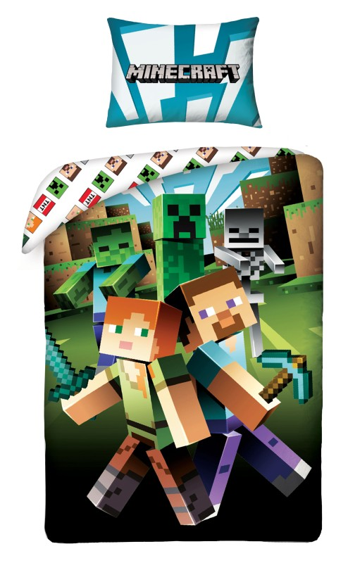HALANTEX Povlečení Minecraft zombie  Bavlna, 140/200, 70/90 cm
