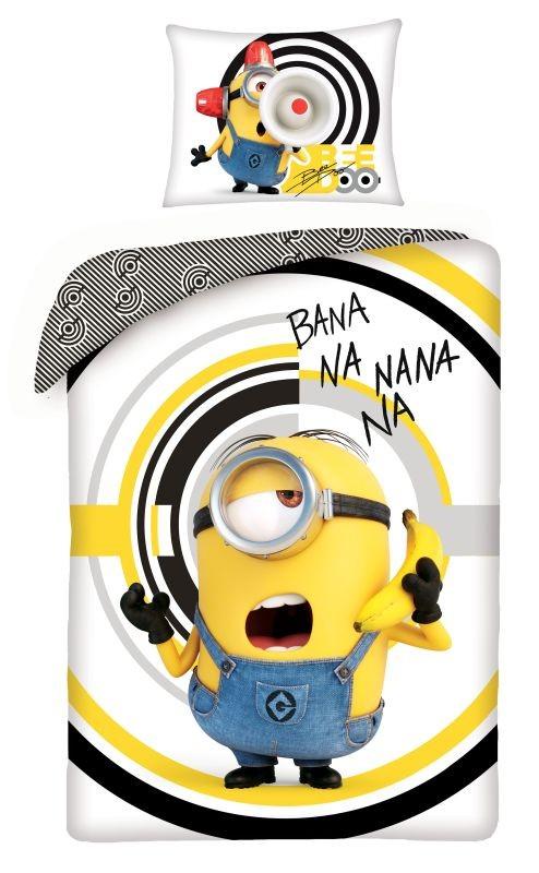 HALANTEX Povlečení Mimoni Banana White  Bavlna, 140/200, 70/90 cm