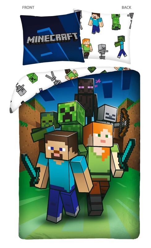 HALANTEX Povlečení Minecraft Attack  Bavlna, 140/200, 70/90 cm