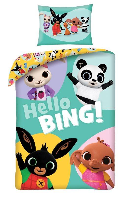 HALANTEX Povlečení do postýlky ve vaku Králíček Bing Hello  Bavlna, 100/135, 40/60 cm