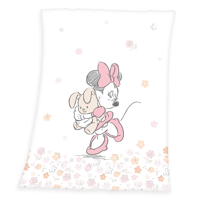HERDING Soft fleece deka Minnie  Polyester, 75/100 cm