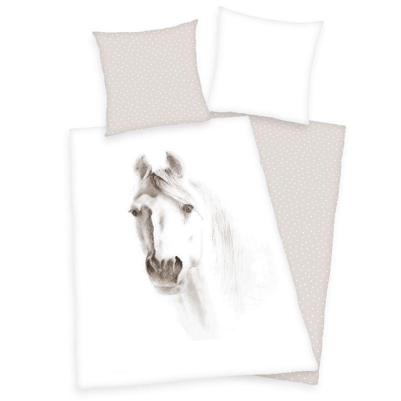 HERDING Povlečení Kůň portrét  Bavlna, 140/200, 70/90 cm