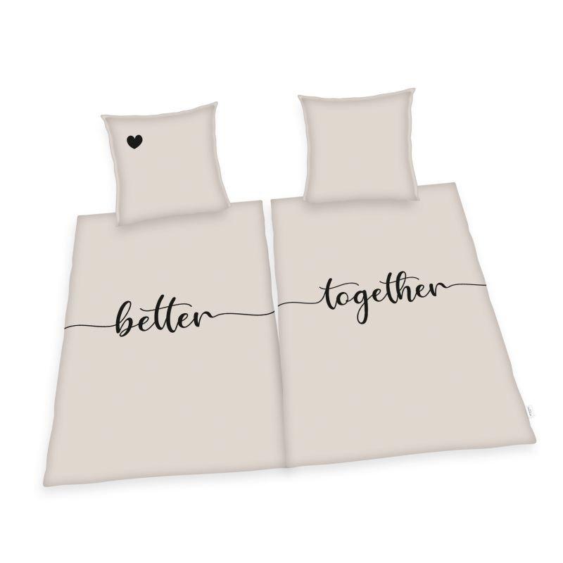 HERDING Sada povlečení na dvě postele Better Together  Bavlna, 140/200 cm
