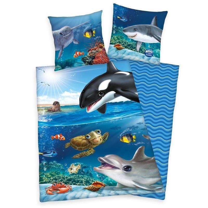 HERDING Povlečení Animal Club Oceán  Bavlna, 140/200, 70/90 cm