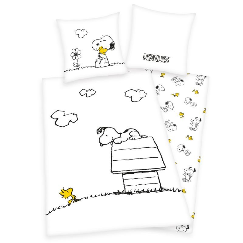 HERDING Povlečení Snoopy  Bavlna, 140/200, 70/90 cm