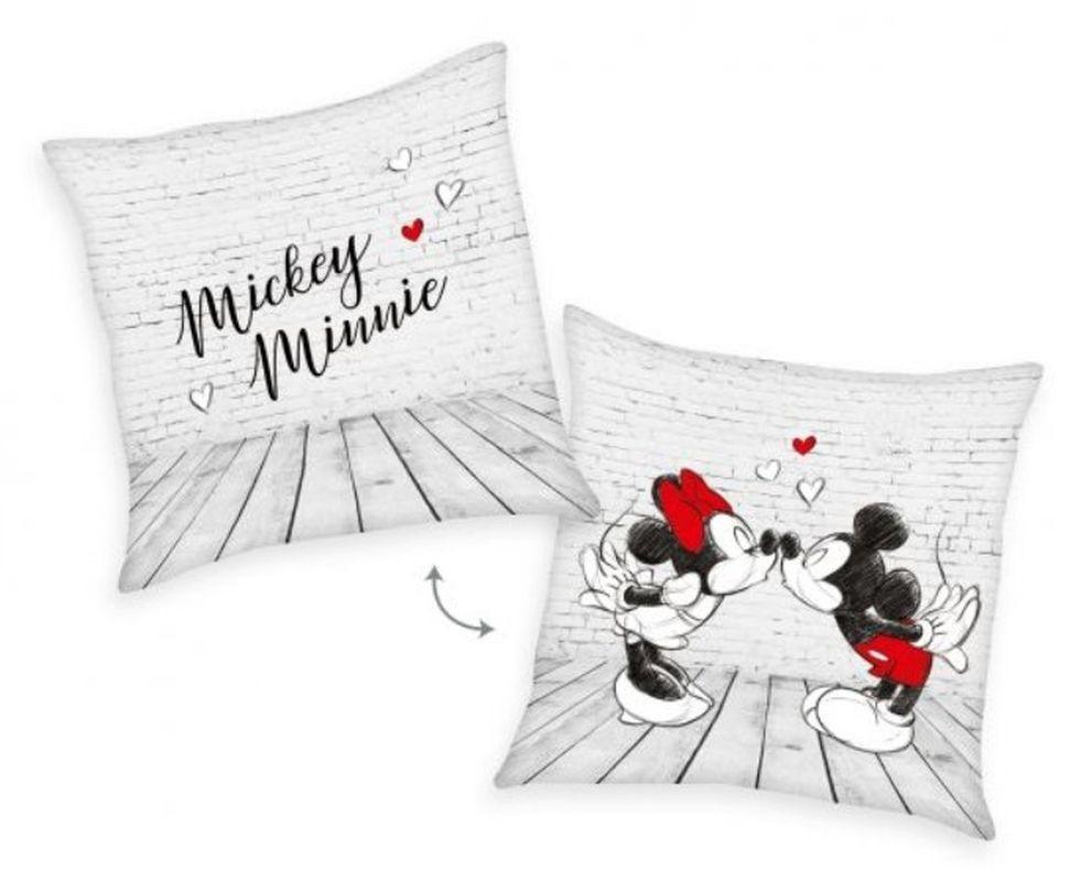 HERDING Polštářek Mickey a Minnie velur  Polyester - Velur, 40/40 cm