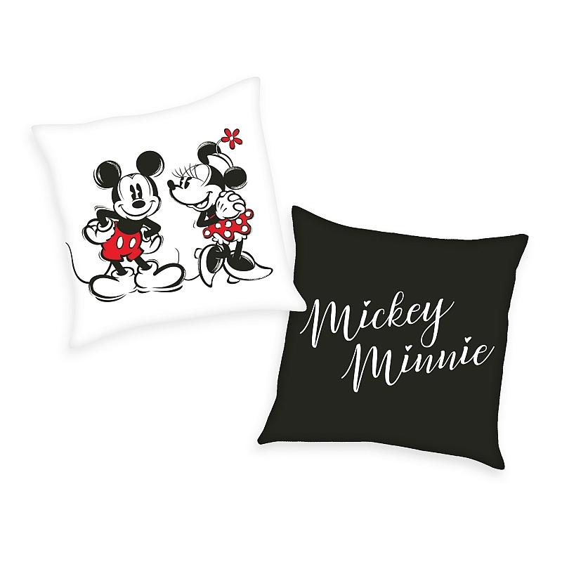 HERDING Polštářek Mickey a Minnie  Polyester, 40/40 cm