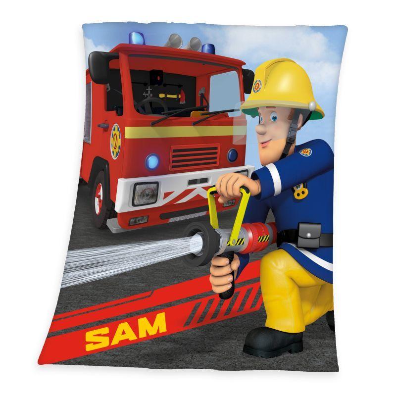 Fleece deka Požárník Sam 130/160