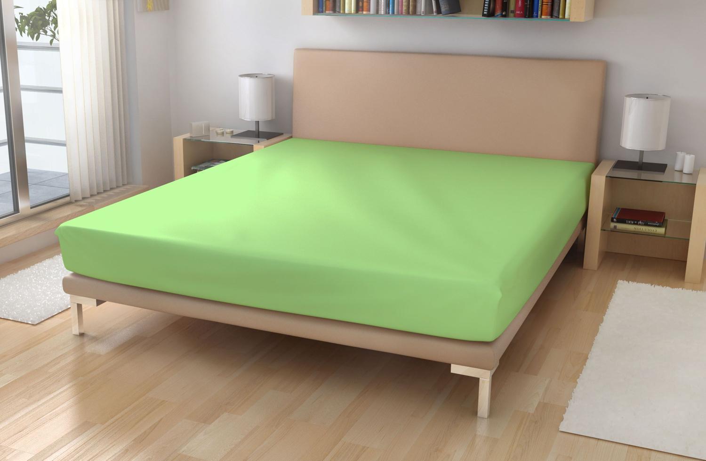 Jersey prostěradlo EXKLUSIVE Světle zelená 180/200