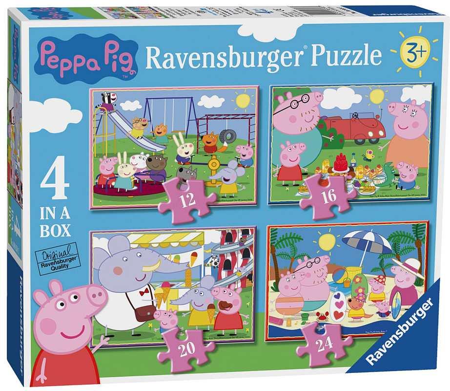Puzzle Prasátko Peppa 4v1