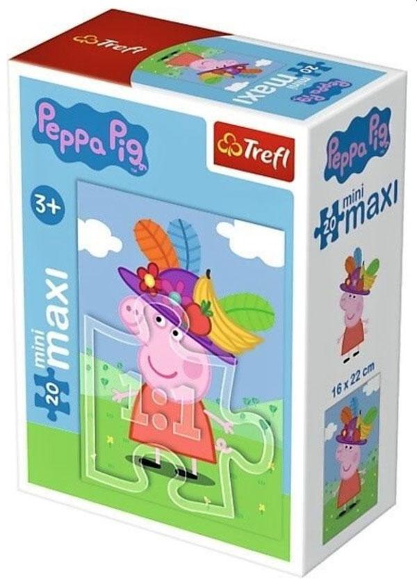 Puzzle Peppa s kloboukem 20 dílků