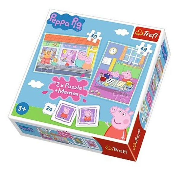 Puzzle Peppa Pig a pexeso Peppa