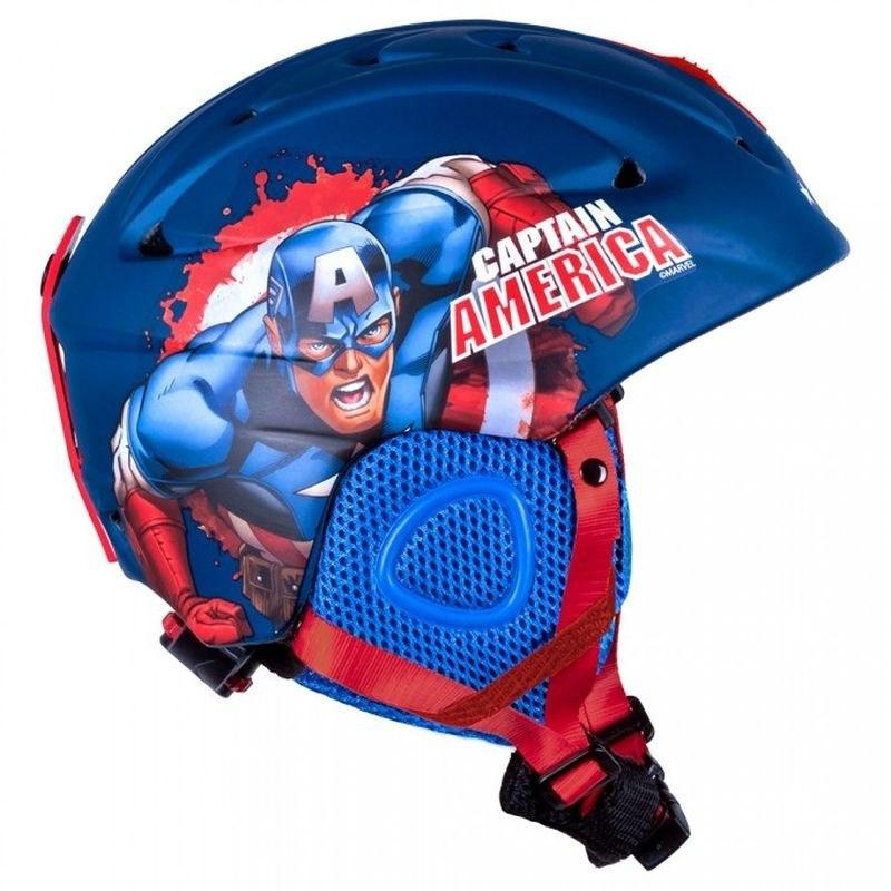 SEVEN Lyžařská a snowboardová helma Kapitán Amerika ABS / EPS, vel. 55-58 cm