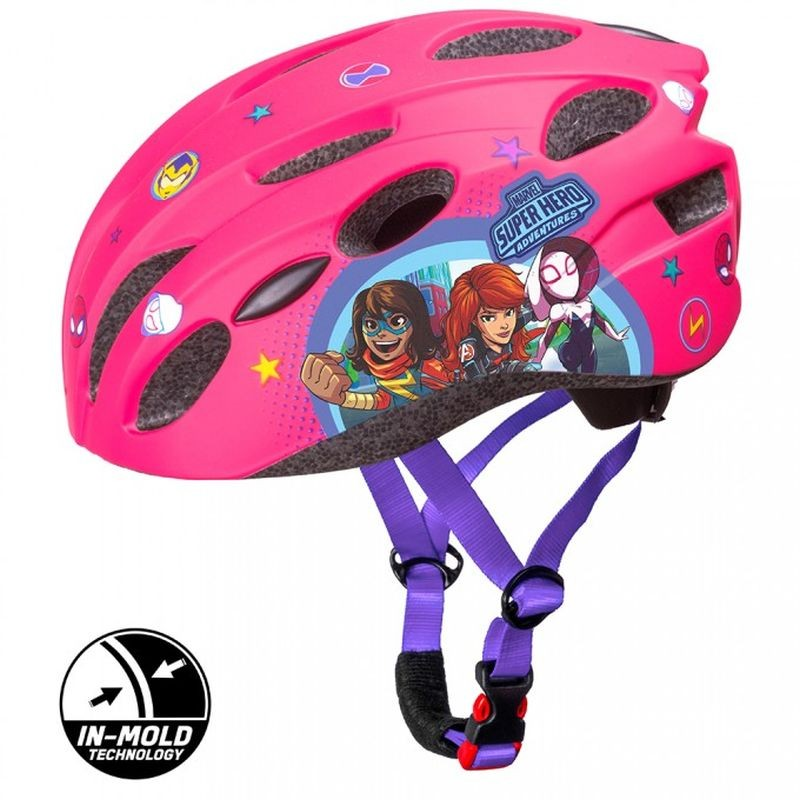 SEVEN Dětská cyklo přilba in mold Avengers růžová , vel. M, 52-56 cm