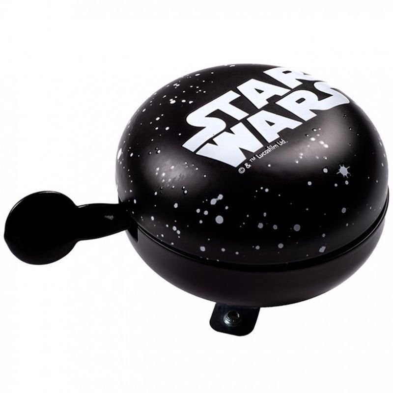 SEVEN Kovový retro zvonek na kolo Star Wars logo Kov, Průměr 9 cm, výška 5,5 cm