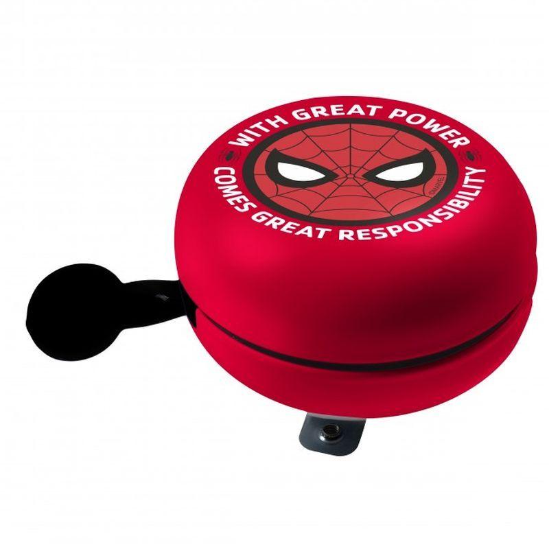 SEVEN Kovový retro zvonek na kolo Spiderman Kov, Průměr 9 cm, výška 5,5 cm