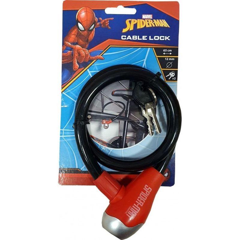 Zámek na kolo lankový Spiderman