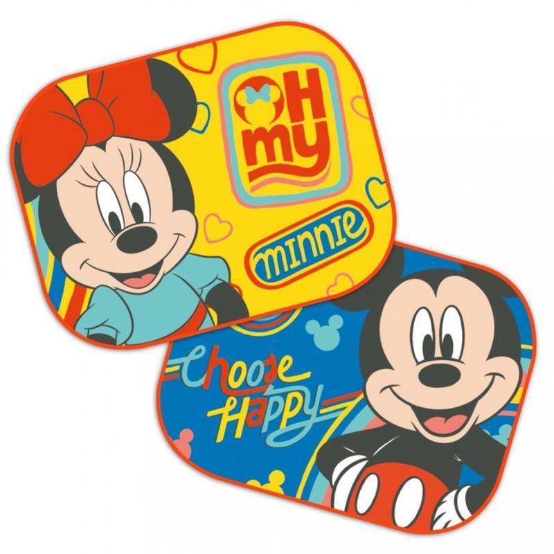Sluneční clony Mickey a Minnie 2 ks