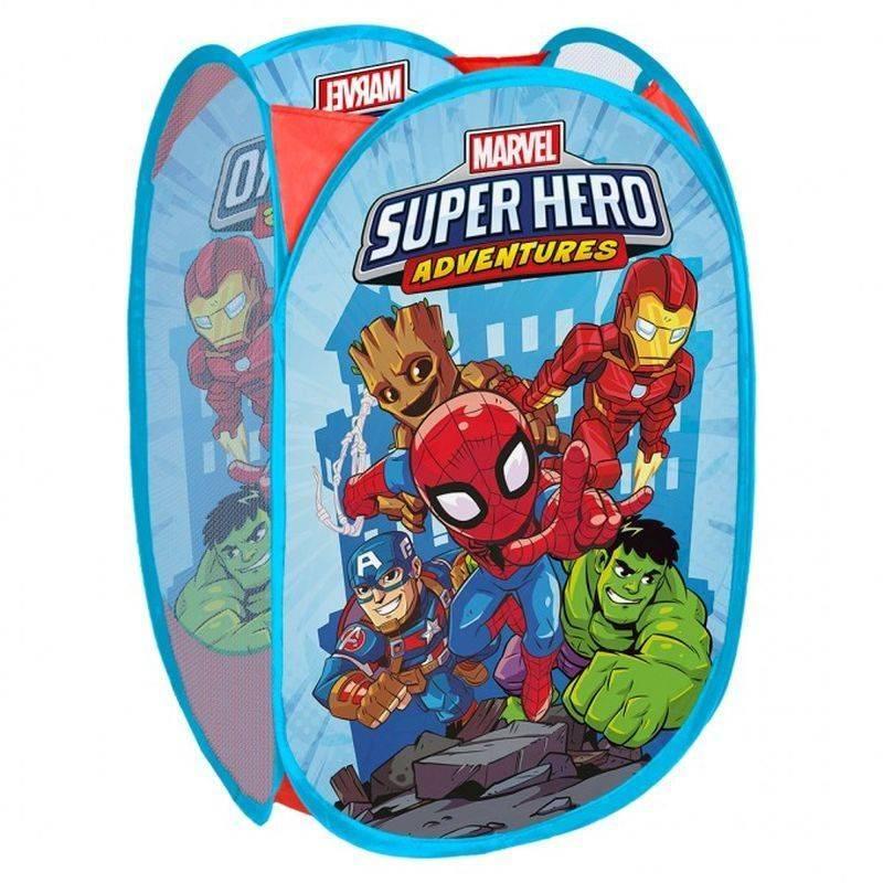 SEVEN Koš na hračky Super Hero Polyester, 36x36x58 cm