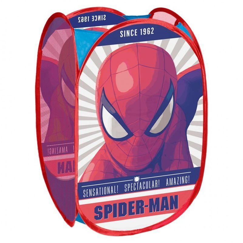 SEVEN Koš na hračky Spiderman Polyester, 36x36x58 cm