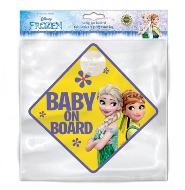 Cedulka s přísavkou Dítě v autě Ledové Království
