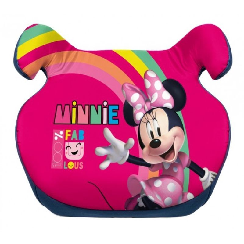 SEVEN Podsedák do auta Minnie Duha tvrzený polyethylen, polstrování Polyester, 15 - 36 Kg