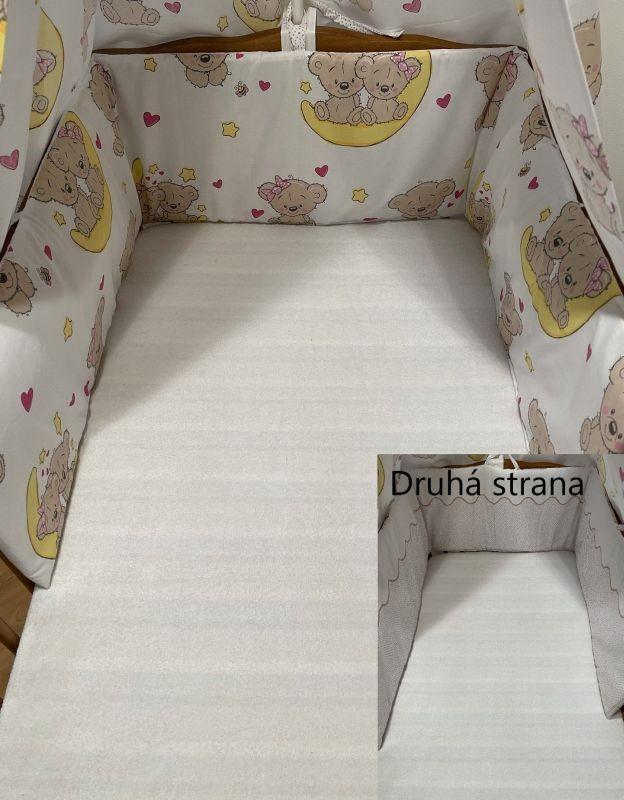 SDS Mantinel do postýlky Medvídci hnědá  Bavlna, výplň: Polyester, 195/28 cm