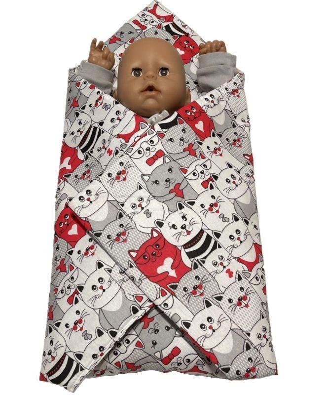 SDS Rychlozavinovačka pro panenky Kočky v kině Bavlna, výplň: Polyester, 1x 60x60 cm