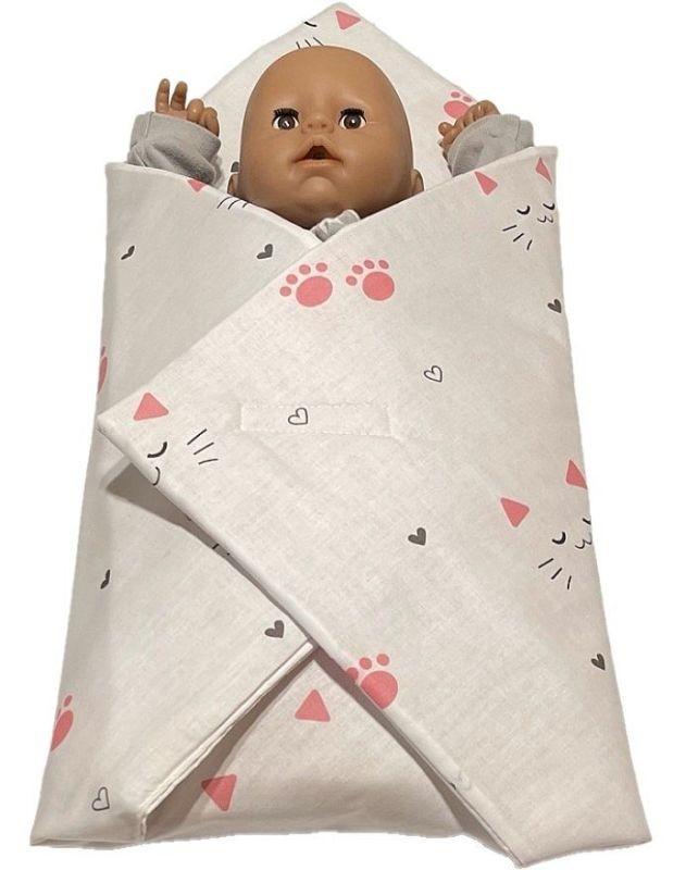 SDS Rychlozavinovačka pro panenky Kočičky bílá Bavlna, výplň: Polyester, 1x 60x60 cm