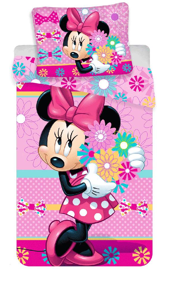 Povlečení Minnie Bows and flowers 140/200