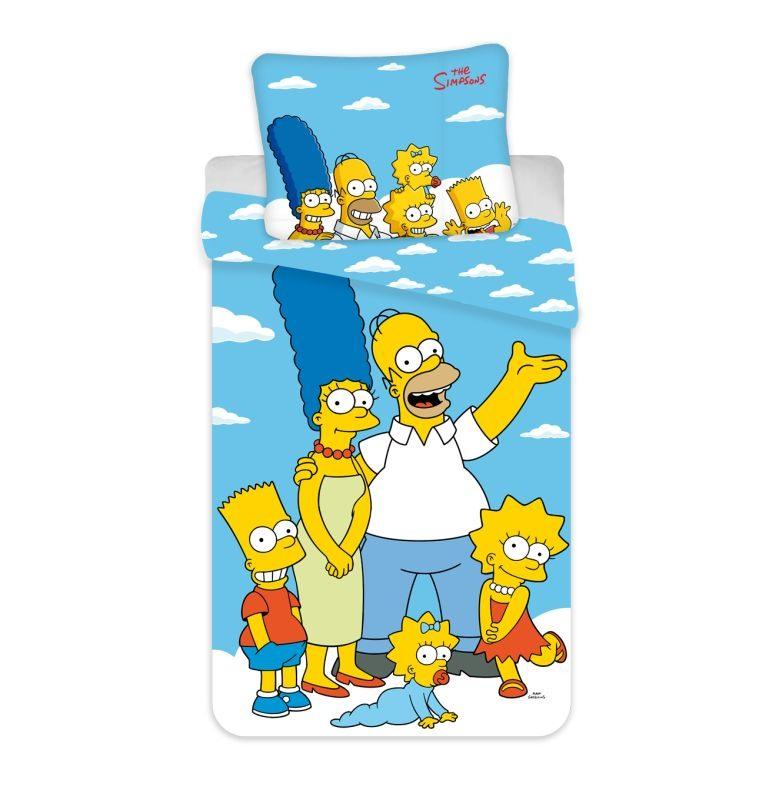 Povlečení Simpsons Family Clouds 02 140/200